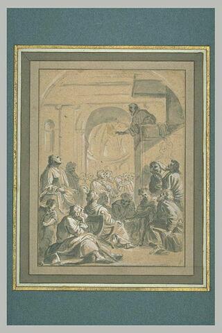 Saint Bruno assiste au sermon de Raymond Diocrès