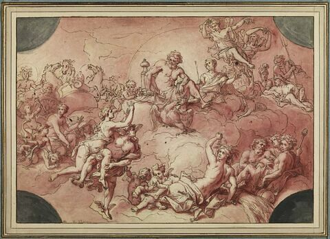 Mercure présentant Psyché à Jupiter