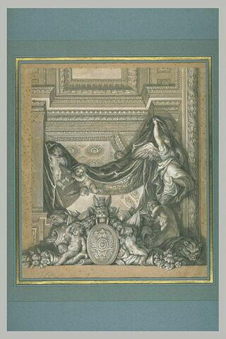 Un des ornements de la Galerie des Glaces, à Versailles