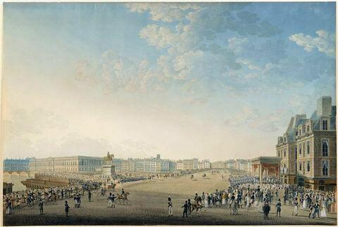 Entrée de Louis XVIII à Paris au moment de son passage sur le Pont-Neuf