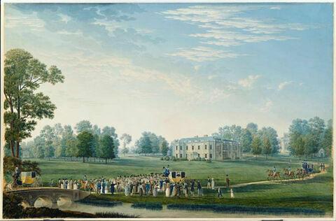 Vue du château de Hartwell