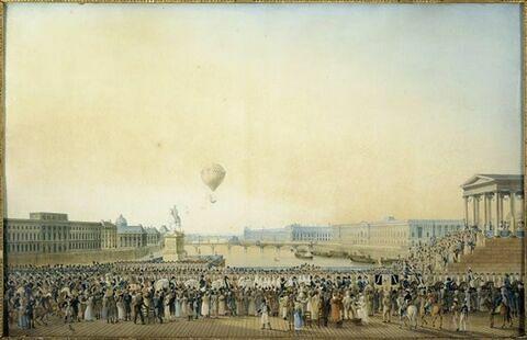Entrée de Louis XVIII à Paris, au moment de son passage sur le Pont-Neuf, le 3 Mai 1814