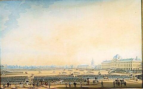 Distribution des drapeaux à la garde nationale de Paris, 7 septembre 1814