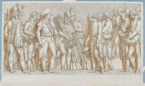Arc de triomphe du Carrousel : la réddition d'Ulm