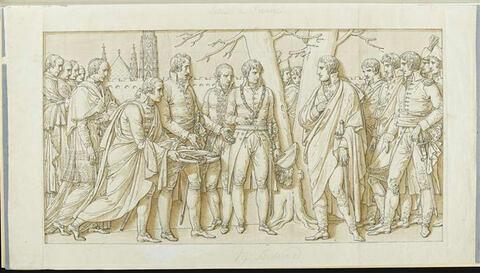Arc de triomphe du Carrousel : entrée de Vienne, bas-relief
