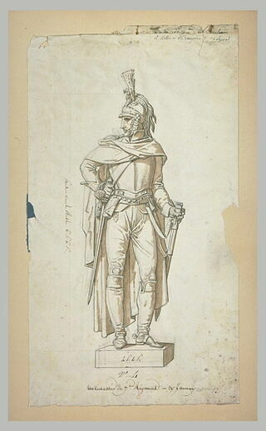 Statue de cuirassier du septième régiment, d'après Taunay