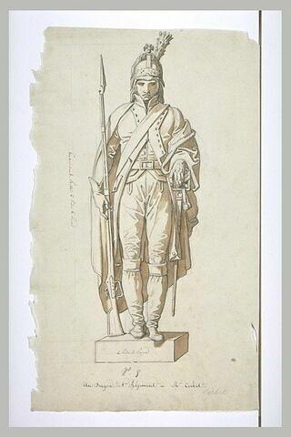 Statue de dragon du premier régiment, d'après Corbet