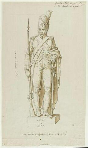 Statue d'un grenadier d'infanterie de ligne, d'après Dardet