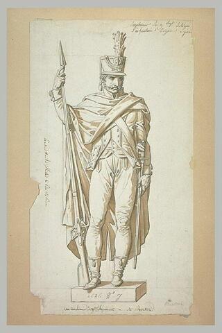 Statue d'un carabinier du neuvième régiment, d'après Montoni