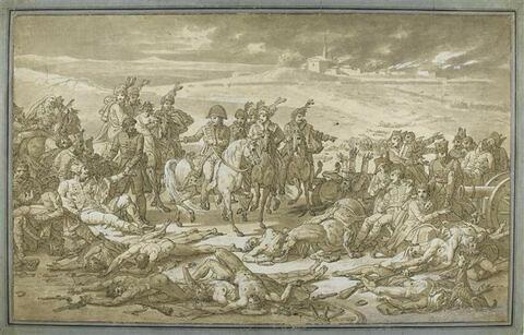 Napoléon à la bataille d'Eylau le 8 Février 1807