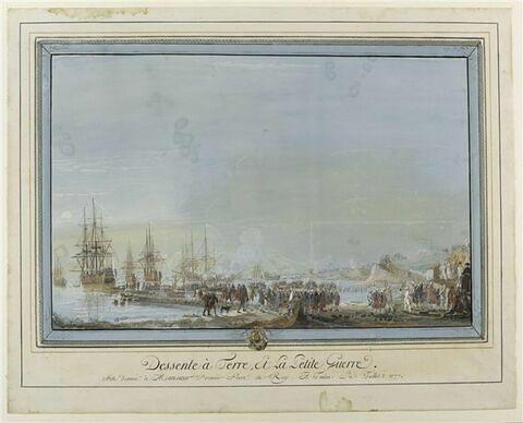 Descente à terre et petite guerre ; fête donnée à Monsieur en 1777