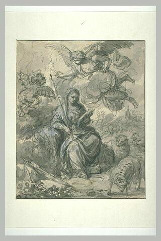 Sainte Geneviève gardant ses moutons