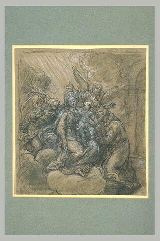 Apparition de la Vierge, de l'Enfant Jésus et de deux anges à saint Benoît