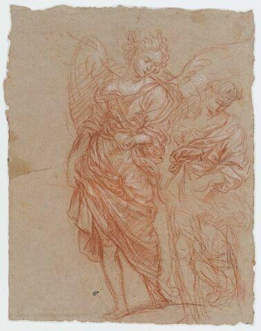 Etudes pour un ange debout, la tête inclinée vers la droite