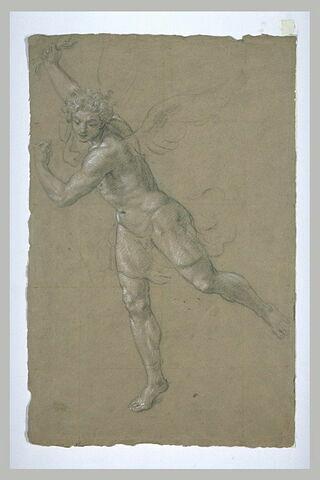 Homme nu, ailé ; étude pour la figure de saint Michel.
