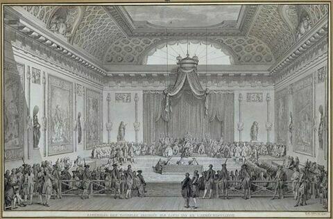 Assemblée des notables, présidée par Louis XVI en 1787