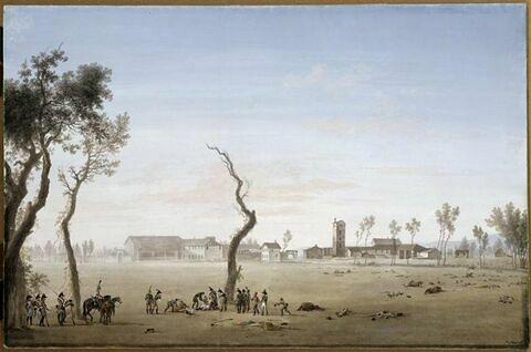 Vue du village de Marenga, 14 Juin 1800, mort du général Desaix