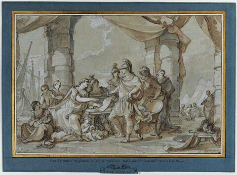 Conclusion de la paix à Tarente entre Auguste et Marc Antoine