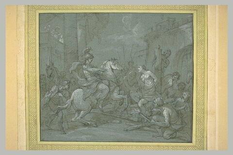 Olinde et Sophronie délivrés par Clorinde