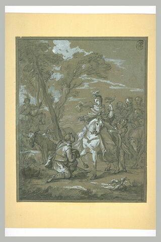 Rencontre de Don Quichotte et Sancho Pança avec la duchesse