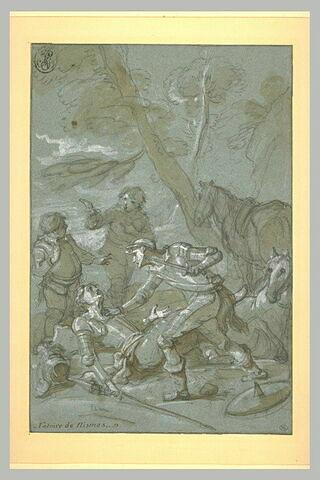 Le chevalier des miroirs vaincu par Don Quichotte