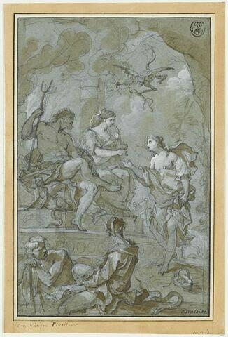 Psyché reçue aux Enfers par Pluton et Proserpine