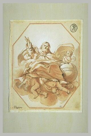 Dieu le Père porté par des anges