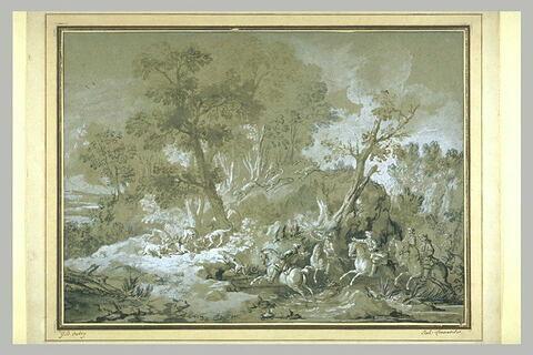 La chasse au loup, l'hallali