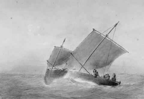 Barque bretonne au plus près du vent