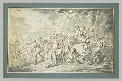 Captifs et captives emmenés par des ottomans