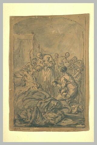 La Communion et des secours donnés par des religieux à des malades...