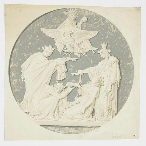 Médaillon allégorique à la gloire de Napoléon Ier
