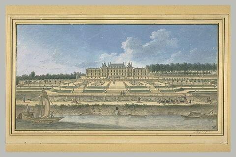 Deuxième vue du château de Ménars, du côté de la rivière