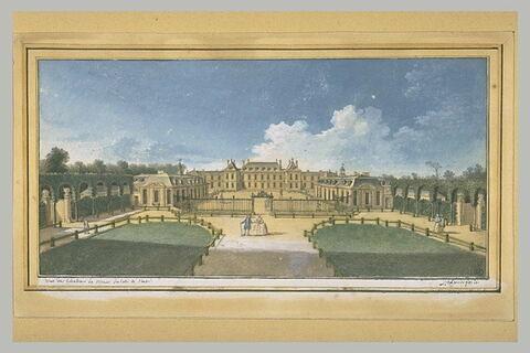 Vue du château de Ménars, du côté de l'entrée