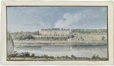 Vue du château de Ménars, prise de la chaussée de Blois