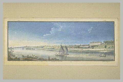 Cinquième vue du château de Ménars prise du bord de la Loire