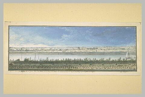 Sixième vue du château de Ménars, prise du parterre de la terrasse