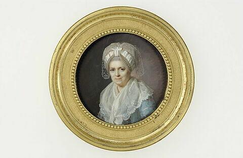 Portrait de la mère de l'artiste, vu de face