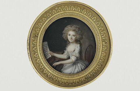 Portrait de la femme de l'artiste à l'âge de onze ans