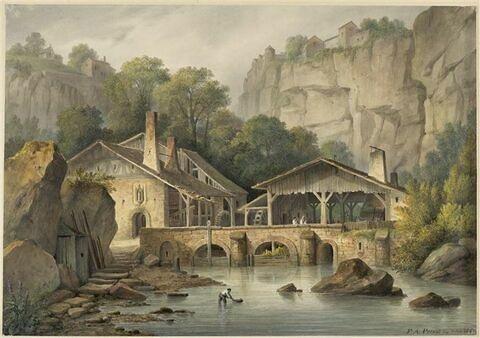 Moulin dans les montagnes