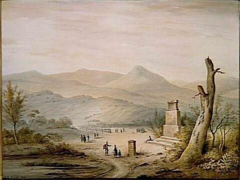 Vue du monument élevé en 1801 à la mémoire de Turenne par l'armée du Rhin...