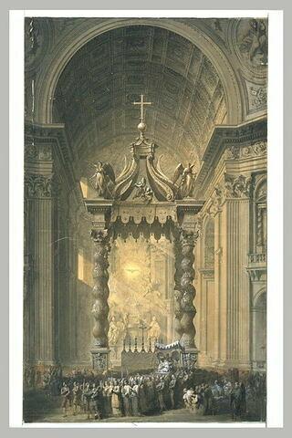 Vue intérieure de l'église de Saint-Pierre de Rome