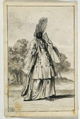 Evariste Gherardi dit Arlequin dans le personnage d'Arlequin comtesse de pimbêche