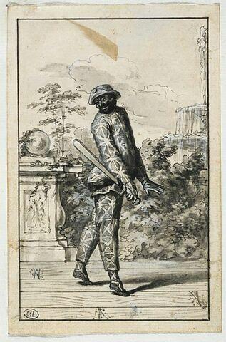 Evariste Gherardi dit Arlequin dans un personnage de la Comédie Italienne...