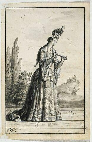 Elisabeth Daneret dite La Chanteuse dans le personnage de Babet la Chanteuse