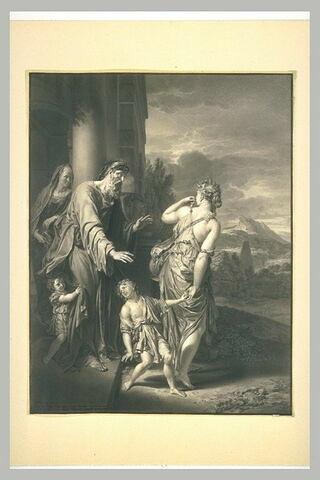 Abraham renvoyant Agar, d'après le tableau d'Adrien van der Werff