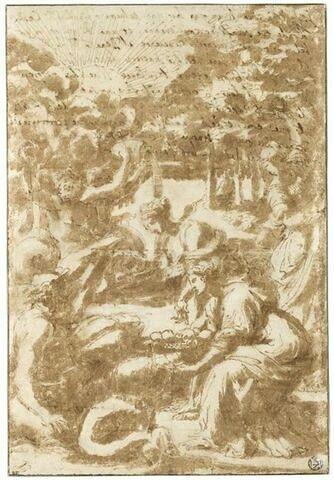 Les Nymphes du Lac de Garde offrant des citrons au dieu fleuve Benalus