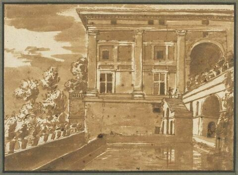 Vue de la Villa Madama près de Rome