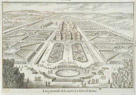 Vue générale du château de Louvois à quatre lieues de Reims