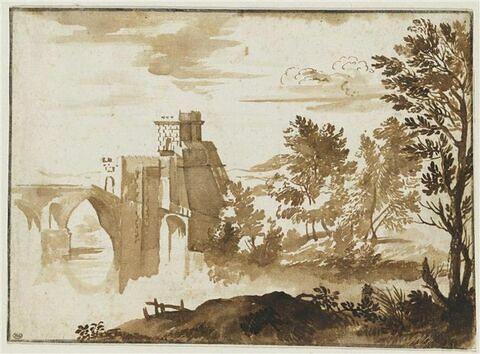 Paysage avec le Ponte Molle